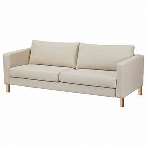 karlstad 3 seat sofa lofallet beige ikea