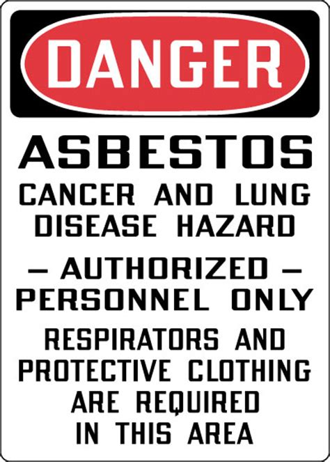 hazardous chemicals  materials sign danger asbestos