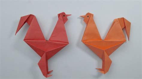 membuat origami ayam jago origami hewan youtube