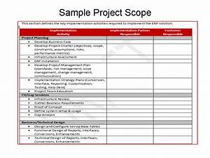 defining scope for erp implementations erp the right way With scope documents project management