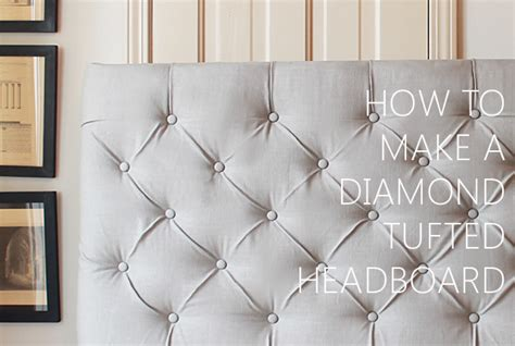 How To Make Your Own Tufted Headboard by A Dramatic Master Bedroom Makeover