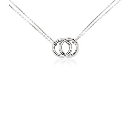 infinity rings necklace  platinum blue nile