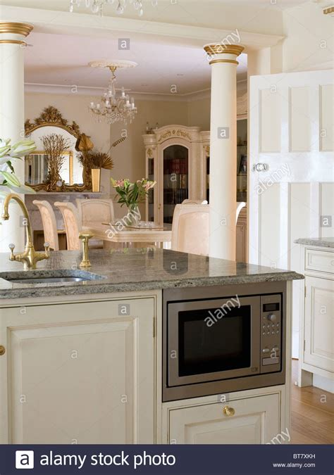 microwave in kitchen island microwave oven and sink in fitted island unit in kitchen 7491