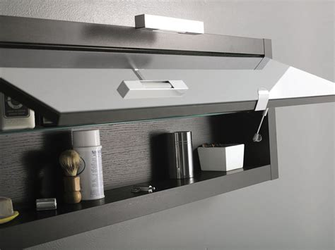 Alluring Modern Bathroom Wall Cabinet With Small Black