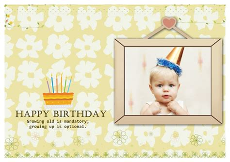 birthday card template with photo birthday card templates greeting card builder