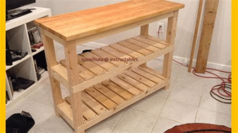 diy kitchen island woodworking plans build  butcher block kitchen island brilliant diy