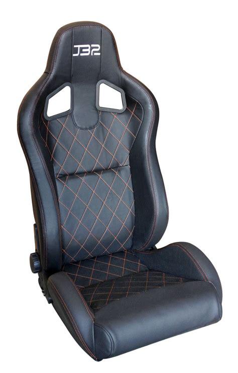luxury custom leather racing seats in black blue