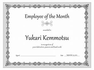 employee of the month certificate template with picture - certificates