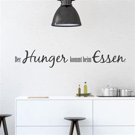 wandtattoo spruch der hunger kommt beim essen