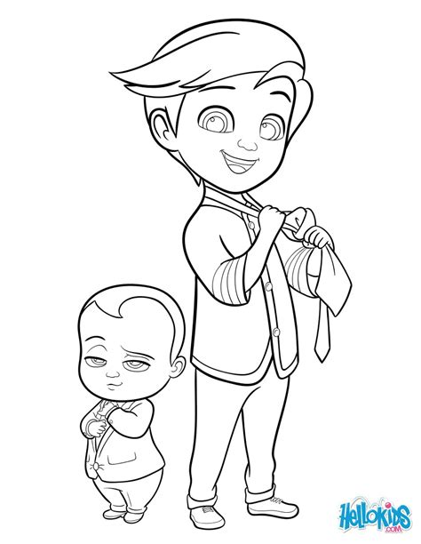 boss baby  tim coloring pages hellokidscom