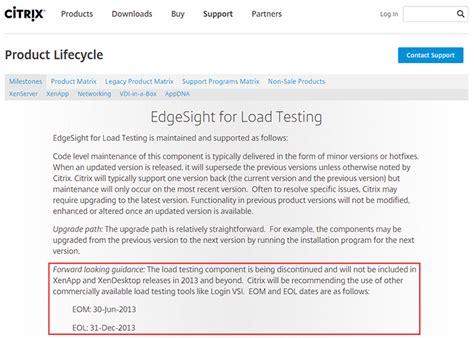 citrix edgesight  load testing    life login vsi