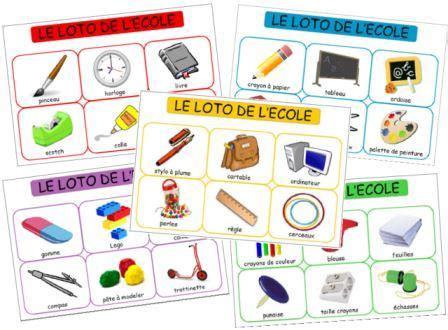 lexique cuisine anglais le loto des objets de l 39 école dessine moi une histoire