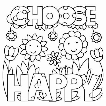 Coloring Recovery Pages Quote Happy Printable Paint