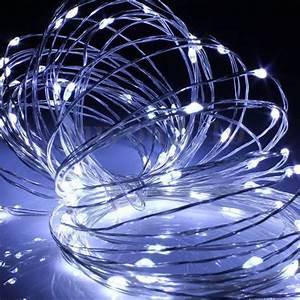 Guirlande Led Pile : guirlande led piles goutte blanche 40 ampoules ~ Teatrodelosmanantiales.com Idées de Décoration