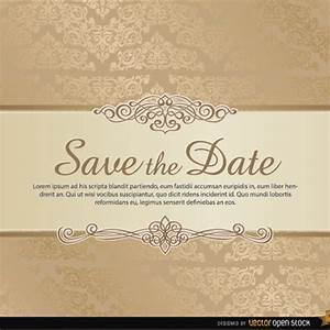 damask save the date vector template freevectorsnet With free online wedding save the date templates