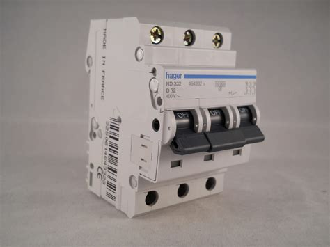 Hager Mcb Amp Triple Pole Phase Circuit Breaker Type