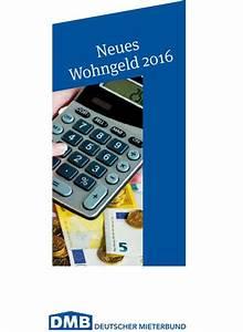 Wohngeld Berechnen 2016 : infotipp h heres wohngeld seit januar berliner mieterverein e v ~ Themetempest.com Abrechnung