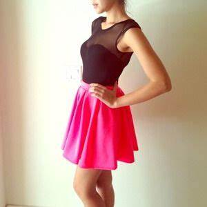 Neon Pink Skirt Small S from A s closet on Poshmark