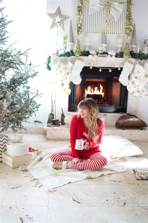 My Cute Christmas Pajamas + Holiday Living Room Decor • a