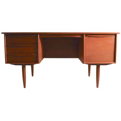 danish modern desk l danish modern teak desk by falster for sale at 1stdibs