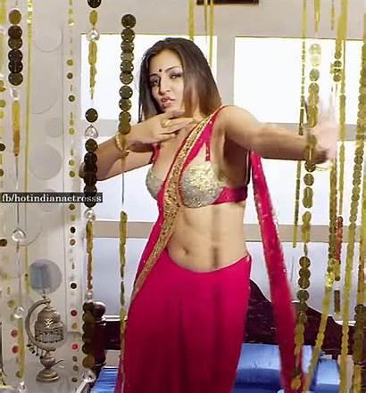 Saree Actress Sana Oberoi Navel Indian