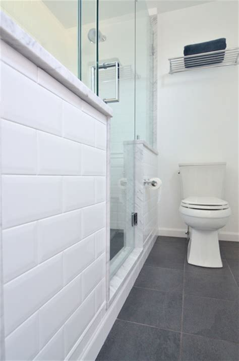 white subway tile modern bathroom philadelphia