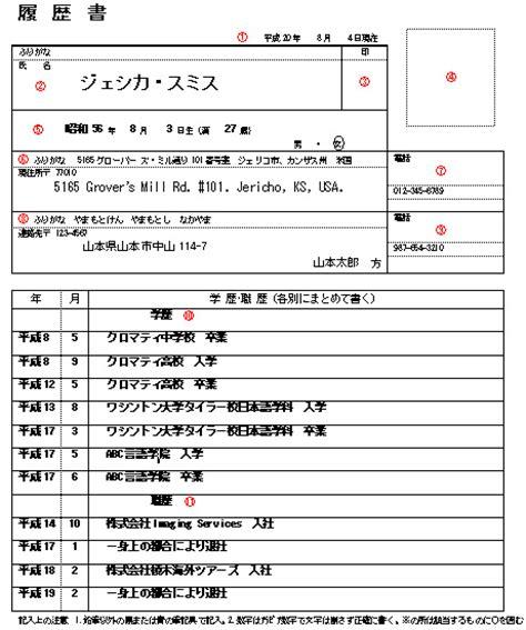 resume japanese resume ideas