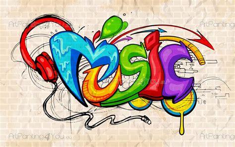largeur cuisine papier peint graffiti musique poster impression sur