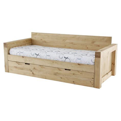 canap gigogne montagne canapé 2 places microfibre et bois massif avec