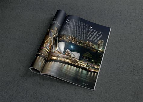 photorealistic magazine mockup  graphicburger