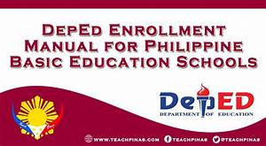 Deped Enrollment Manual For Sy 2020-2021