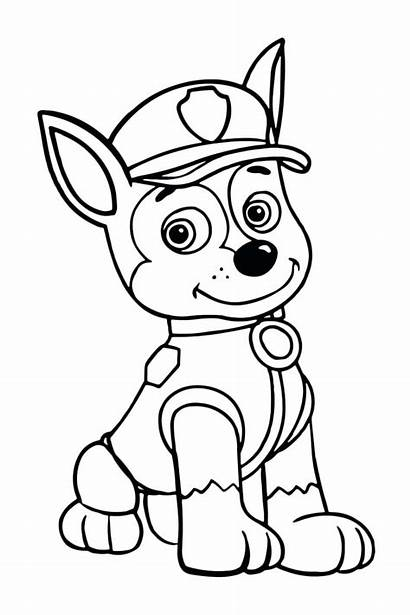 Paw Patrol Coloring Chase Pages Tracker Colouring