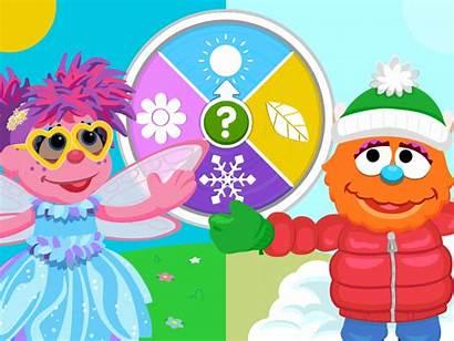 Sesame Street Seasons Sesamestreet Spinner Games Coloring