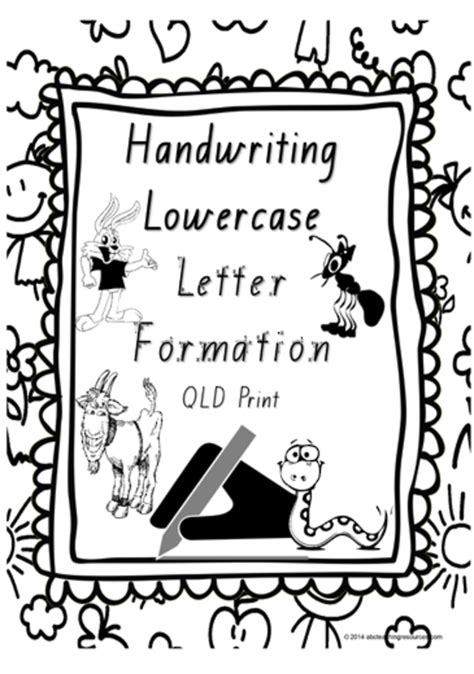 year  handwriting lowercase letter formation charts