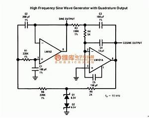 high frequency sine wave generator signal processing With sinusoidal signal generator circuit diagram