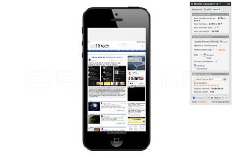 emulare ios su pc mobile phone emulator visualizza i siti