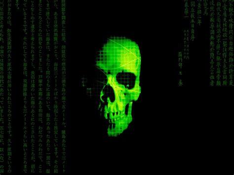 Green Fire Skull Wallpaper Evil