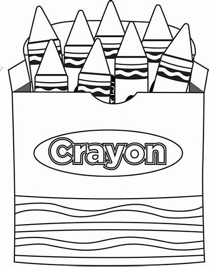 Clip Crayon Clipart Coloring Box Pages Clipartion