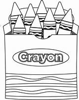 Crayon Clip Coloring Clipart Box Pages Clipartion sketch template