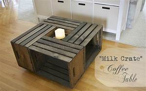 Building a milk crate coffee table joy 2 journey for Milk crate coffee table