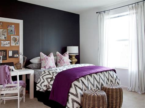 Decorating Ideas For Black Bedroom by Purple Bedrooms Pictures Ideas Options Hgtv