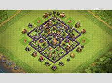 No 7 Clans Clash Best Hall Town Base Tesla Hidden 2