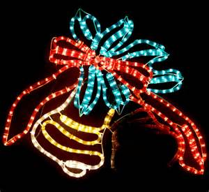animated 80cm led christmas bells and knot motif rope lights ebay
