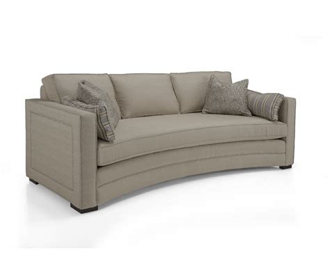 Curved Loveseat by Fabric Curved Sofa Decorium Furniture
