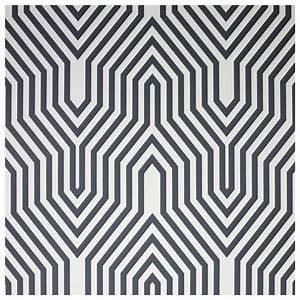 Papier Peint Rayé Noir Et Blanc : papier peint minaret dessin g om trique noir et blanc ~ Preciouscoupons.com Idées de Décoration