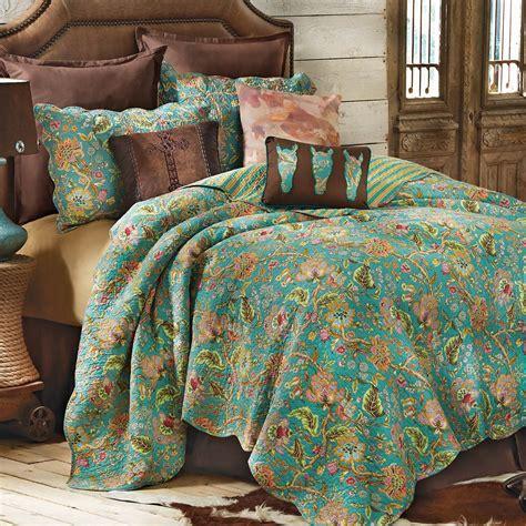 western bedding prairie flower quilt bedding collection