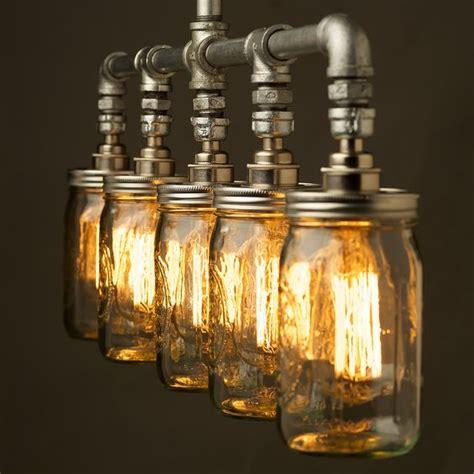Mason Jar Ceiling Light by Edison Bulbs In Jar Pendants Fittings Jar Pendants