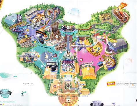 walt disney studios park  park map
