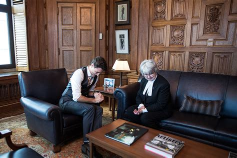 Prime Minister Justin Trudeau Meets With Clerk Of The