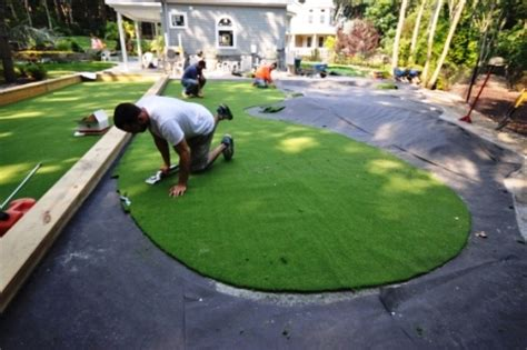 Backyard Artificial Putting Green by Putting Greens Synthetic Golf Turf Sport Courts